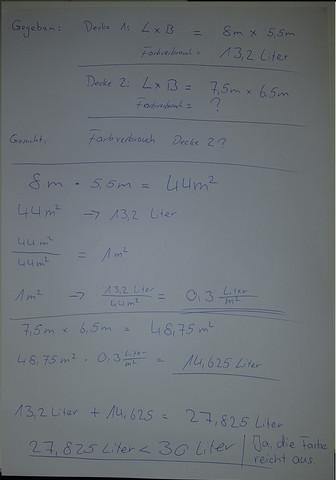Also Da Fehlt Doch Eine Einheit Zb 1 Quadratmeter Pro Liter Zb