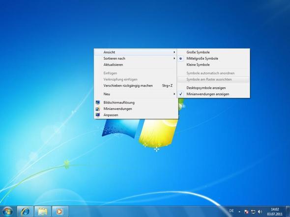 Desktop-Icons sind riesig