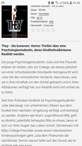 - (Film, Horror, Dunkelheit)