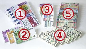 Spiel-Geldschein-Formate - (Freizeit, spielgeld, Massendruck)