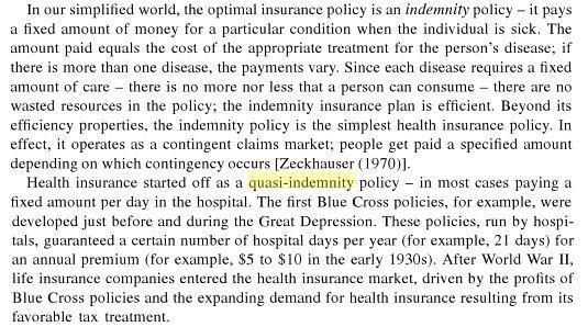 Quasi Indemnity im 'Handbook of health economic, Band 1' - (Versicherung, Uebersetzung)