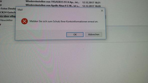 Melden Sie sich zum Schutz Ihrer Kontoinformationen erneut an - (Fehlermeldung, Windows Live)