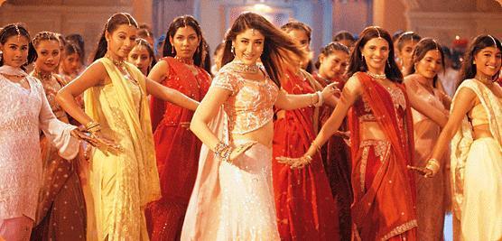 Bollywood-Szenen!