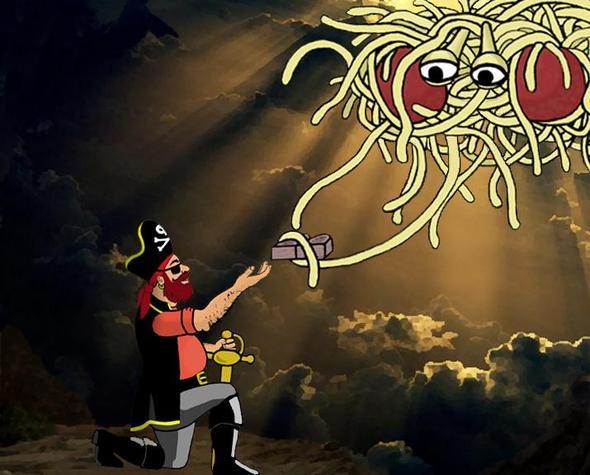 Wikipedia - (Religion, Nudelsieb, Pastafarianisten)