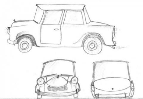 Großzügig Wie Man Eine Skizze Eines Autos Zeichnet Ideen ...