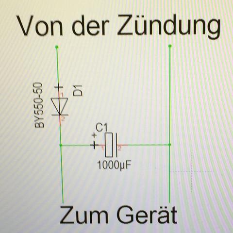 Kondensator am autoradio? (Musik, Technik, Technologie)