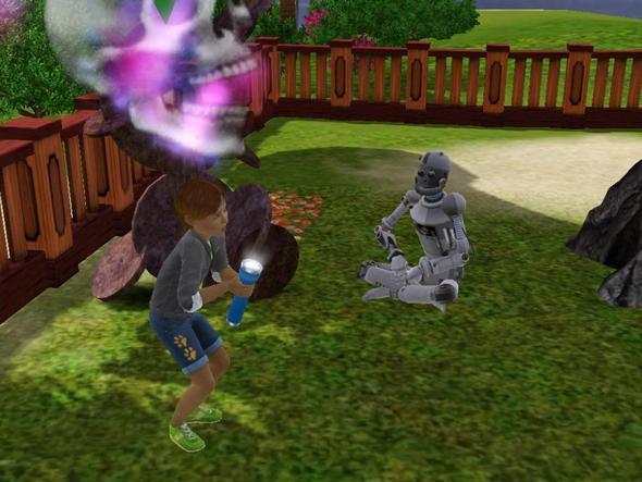 Simbot hört Geistergeschichte - (Computer, Games, Die Sims 3)