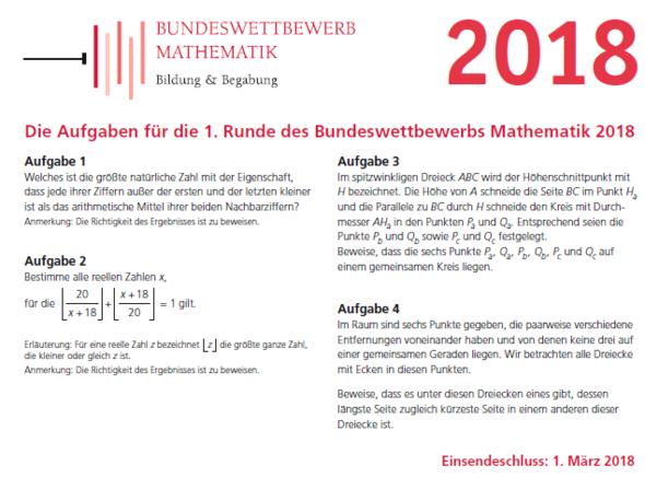 - (Mathematik, Geometrie, Bundeswettbewerb Mathematik 2018)