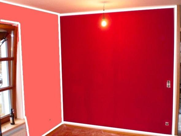 Bsp für wände und ränder - (Farbe, streichen, Wohnzimmerwand)