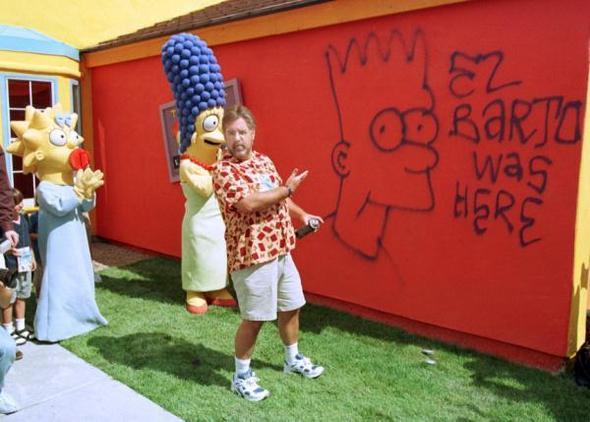 Matt Groening am Simpsons Haus - (Haus, Simpson haus)