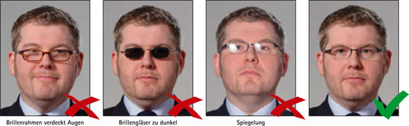 Personalausweis mit Brille - (Brille, Personalausweis)