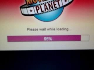 Und hier ladet es sich nur bis 95%. - (Freizeit, moviestarplanet, Starcoins)