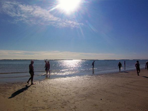 Der Strand bei Ebbe - (Urlaub, Reise, Italien)
