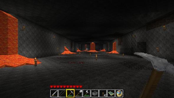 Slimehöhle nach ca. 4h Arbeit - (Freizeit, Games, Minecraft)