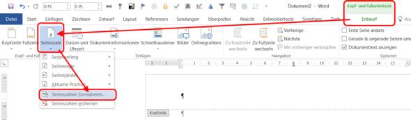 Wie Mache Ich Bei Word 2013 Eine Spezielle Seitennummerierung