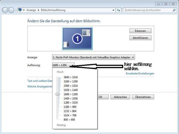 Auflösung wählen - (Windows 7, Bildschirmformat)