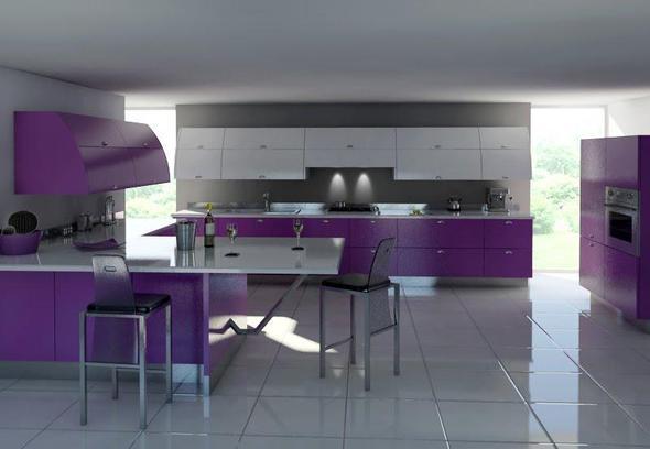 welche farbe passt zu einer lila farbenen küche (einrichtung, Moderne deko