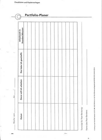 Portfolio Deckblatt Gestalten Schule