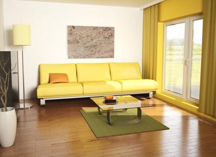 Infrarotheizung Anwendung In Einem Wohnzimmer   (Heizung, Energiesparen,  Elektroheizung)