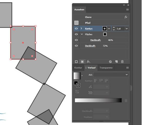 - (Computer, Adobe Illustrator, hellereFarbe als ausgewählt)