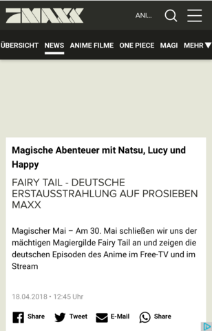 Wo Lauft Fairy Tail Anime TV Manga