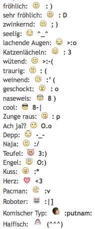 Emoji Kürzel