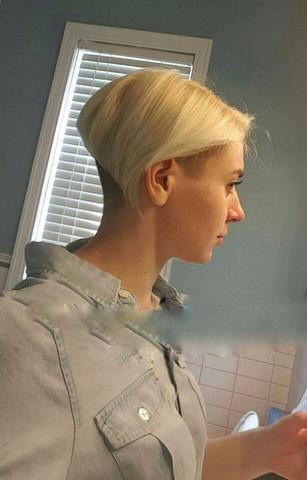 Rasieren frauen nacken Undercut Damen