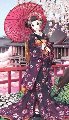 :3 - (Unterschied, Kimono, yukata)