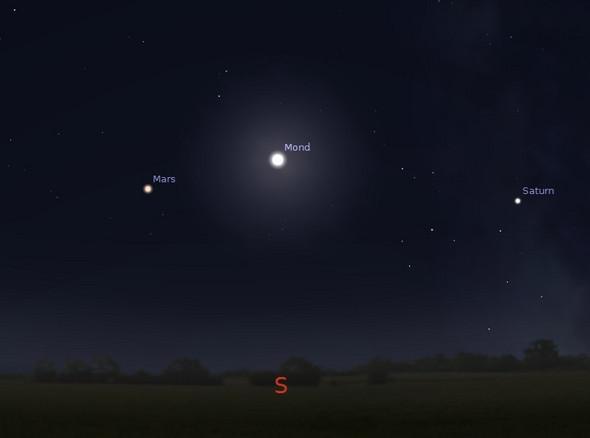 Stern Neben Mond