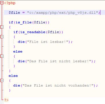 - (Programmieren, PHP, v8JS)