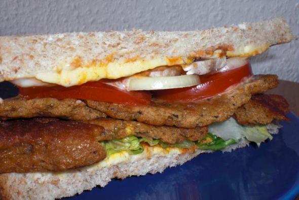 Seitan-Steak-Sandwich - (Gesundheit, essen, Tiere)