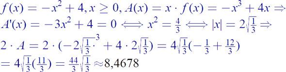 - (Schule, Mathe, Extremwertaufgaben)