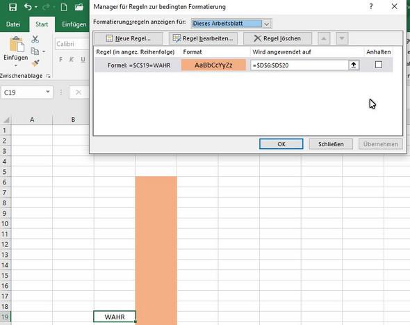 Bedingte Formatierung in Excel per Knopfdruck Ein- und Ausschalten ...
