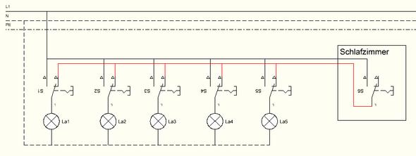 Schaltplan 5 Bereichte unterteilt und 1 Hauptschalter? (Technik ...