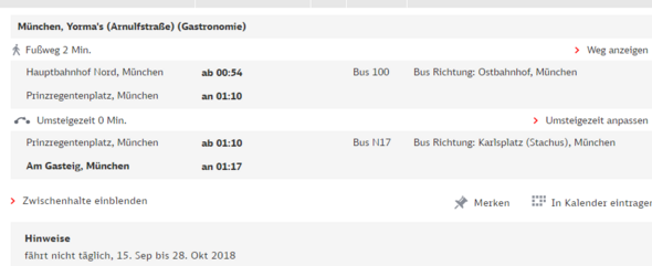 München Straßenbahnzug Verbindungen