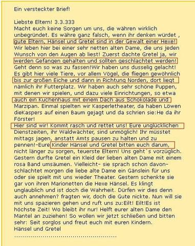 hänsel und gretel  - (Rätsel, Märchen)