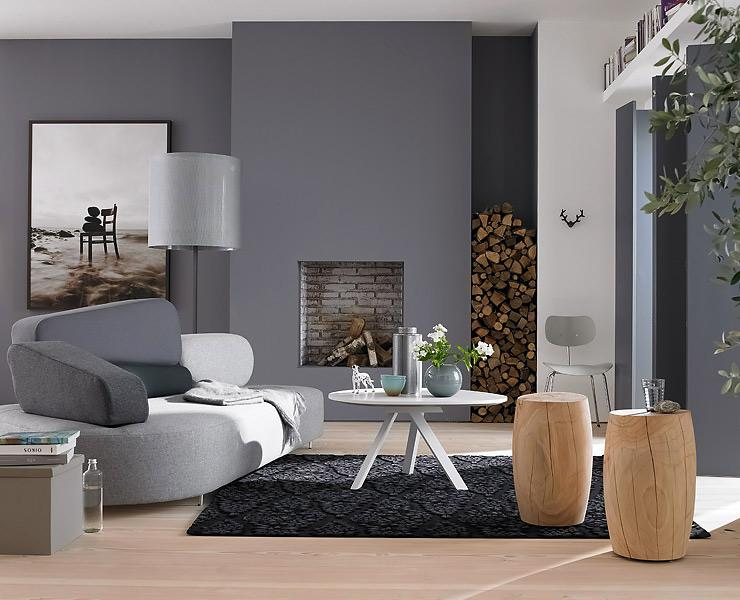 wandfarbe grau rot. Black Bedroom Furniture Sets. Home Design Ideas