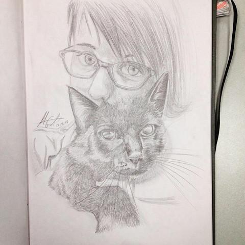 - (zeichnen, verbessern)