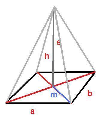 hoehe von rechteckigen pyramiden berechnen geometrie mathe. Black Bedroom Furniture Sets. Home Design Ideas