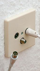 Antennenanschluss - (Technik, TV, Fernseher)