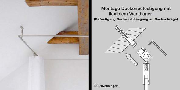 duschvorhangstange f r dachschr ge. Black Bedroom Furniture Sets. Home Design Ideas
