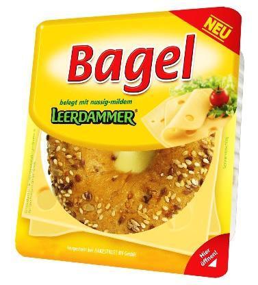 Bagel Leerdamer - (Food, Supermarkt, Bagel)