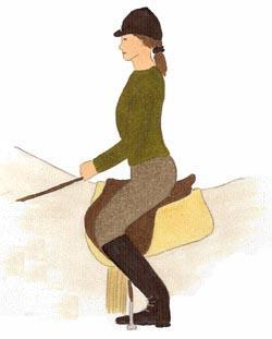 Spaltsitz - (Pferde, reiten, Haltung)