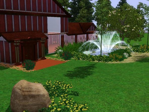 Haus mit Pool/Teich - (Sims 3, Aquarium)