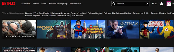 - (Netflix, Batman, DarkKnigtRises)