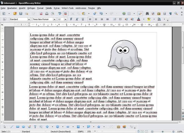 Tabelle in Open Office Writer - (Lebenslauf, Open Office, Dokumente)