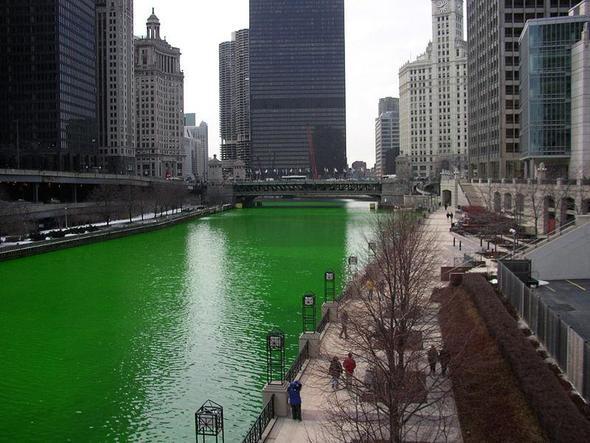 Grüner Fluss! - (Farbe, Wasser, basteln)