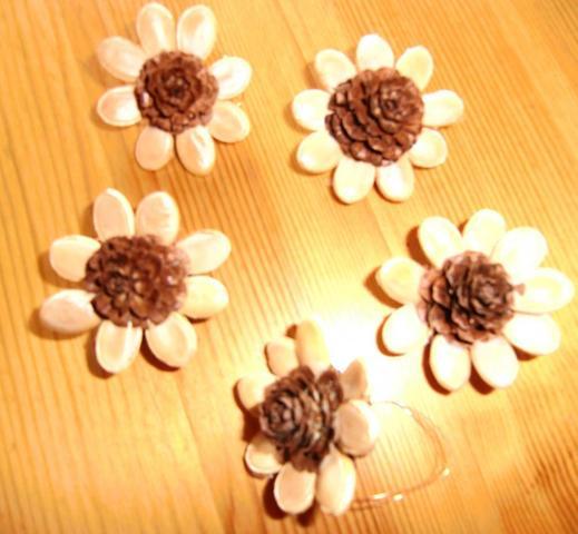 Zapfen- Kürbis - Blüten - Sterne - (Ideen, verkaufen, basteln)