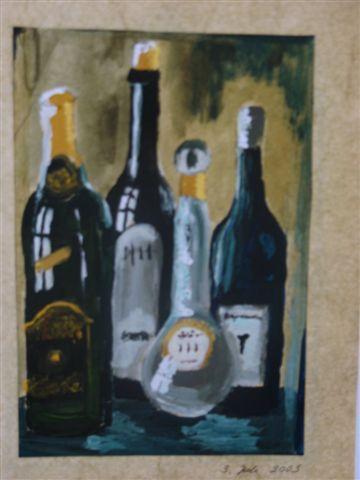 leere Flaschen - (Schule, Kunst, malen)