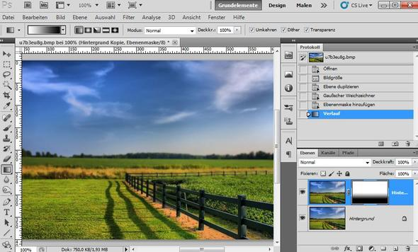 Photoshop - proportionale Tiefenschärfe via Weichzeichner und Ebenenmaske - (Bilder, Photoshop)